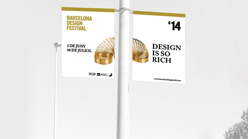 Design: display of flags for Barcelona Design Festival.