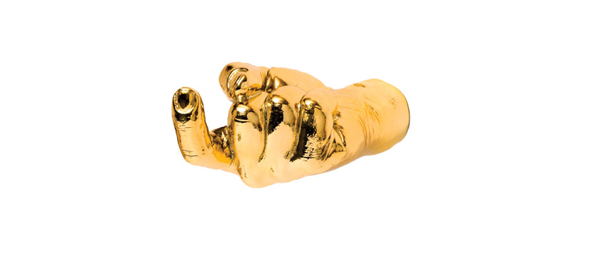 Gold hand for the BCN Design Festival.