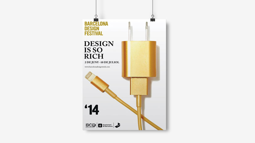 Design: a poster announcing the Barcelona Design Festival.