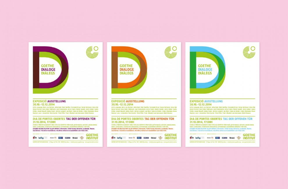 Goethe Dialogues flyers.