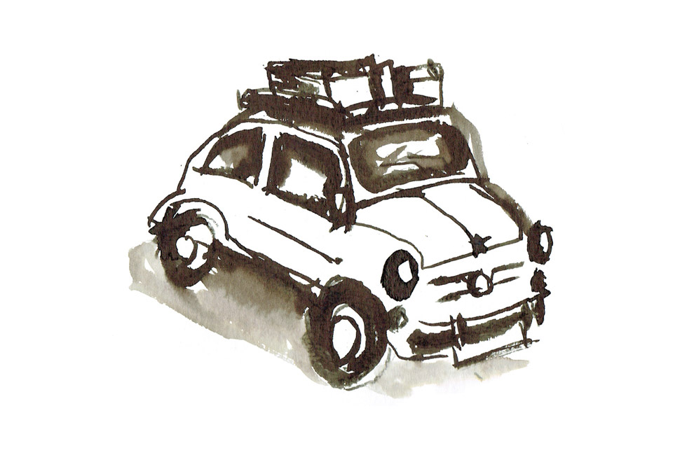 Car pentel microsketch.